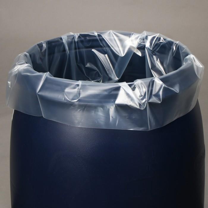 Мешок, вкладыш в бочку, 50 литров, 50 100 см, 80 мкм