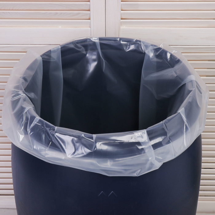 Мешок, вкладыш в бочку, 100 литров, 63 105 см, 100 мкм