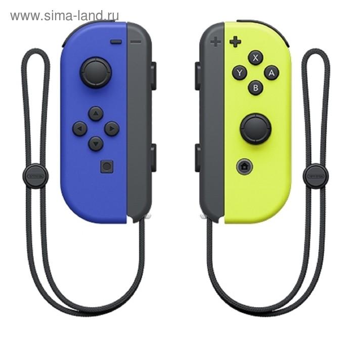 Набор для Nintendo Switch, 2 Контроллера Joy-Con (синий / неоновый желтый)