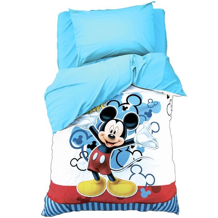 """Детское постельное бельё 1,5 сп """"Микки Маус"""" 143*215 см, 150*214 см, 50*70 см -1 шт., поплин 125 г/м2"""