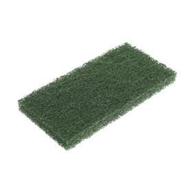 Губка-пад зелёная, средней жёсткости, нейлон, 25x12x2 см