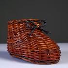 Сувенир «Ботинок», 9×14×8,5 см, лоза