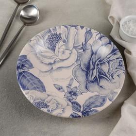 Тарелка глубокая «Синяя роза», 450 мл, 22 см
