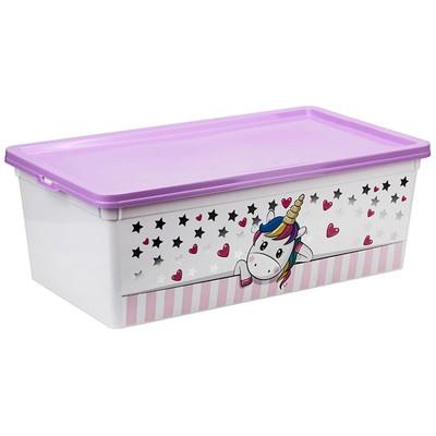 Ящик для игрушек «Единорог», 5,5 л - Фото 1