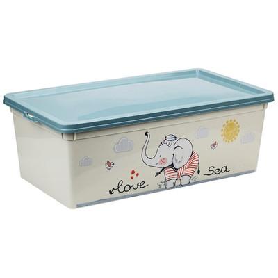 Ящик для игрушек «Слоник», 5,5 л - Фото 1