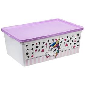 Ящик для игрушек «Единорог», 10 л