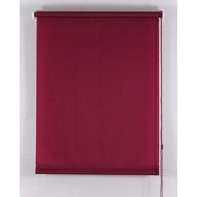 Рулонная штора «Комфортиссимо», 55х160 см, цвет красное вино Ош
