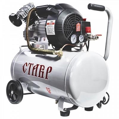 """Компрессор """"Ставр"""" КМК-50/2400, масляный, коаксиальный, 2200 Вт, 50 л, 400 л/мин, 8 атм"""
