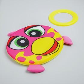Набор игровой, 2 предмета: летающая водная тарелка, обод, виды МИКС Ош