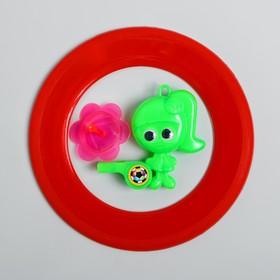 Набор игровой, 2 предмета: летающий обод, свисток с волчком, цвета МИКС Ош