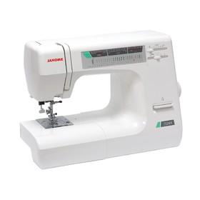 Швейная машина Janome 7524 A, 55 Вт, 23 операция, автомат, реверс, белая, без чехла