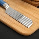 Нож для фигурной нарезки Доляна Lаgооnа, 25 см, нержавеющая сталь, цвет голубой металлик - Фото 2