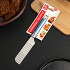 Нож для фигурной нарезки Доляна Lаgооnа, 25 см, нержавеющая сталь, цвет голубой металлик - Фото 3