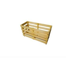 Контейнер для спортинвентаря деревянный передвижной, цвет бежевый Ош