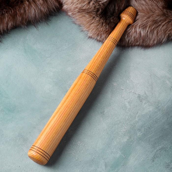 Бита деревянная сувенирная, 53 см, массив дуба, микс