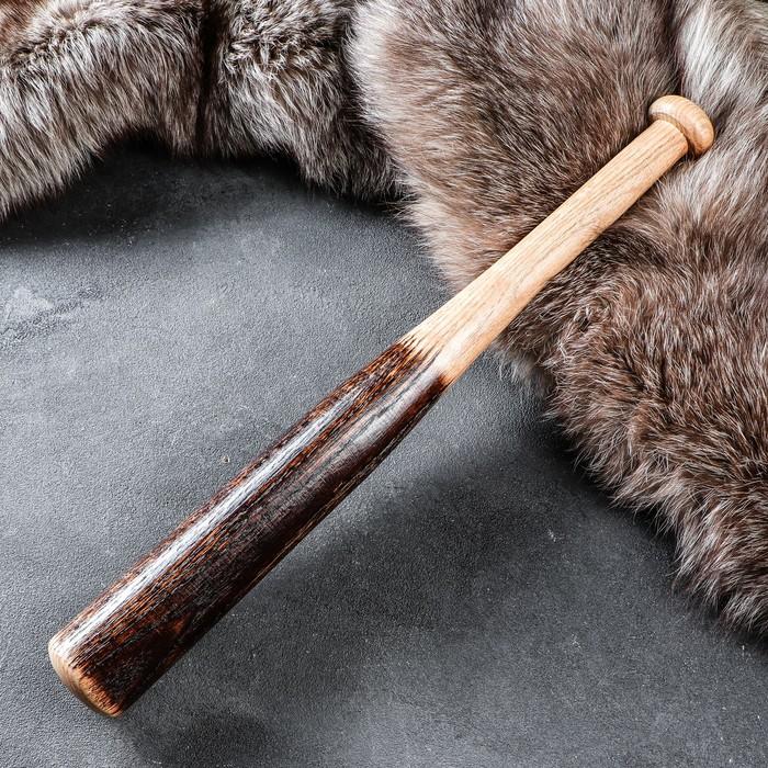 """Бита деревянная сувенирная """"Угольная"""", 50 см, массив дуба"""