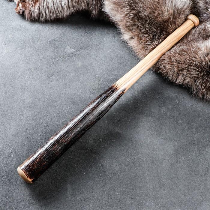 """Бита деревянная сувенирная """"Угольная"""", 70 см, массив дуба"""