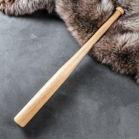 Бита деревянная лакированная, массив дуба, 70 см Ош