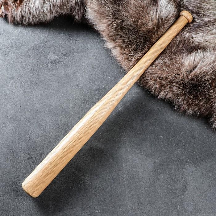 Бита деревянная сувенирная, лакированная, 70 см, массив дуба