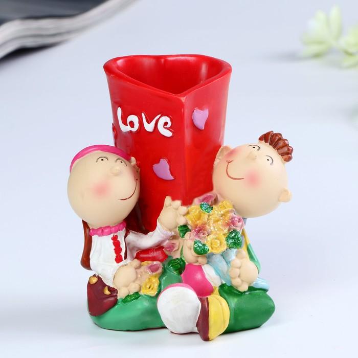 Карандашница Love 9,5х8х10,5 см микс