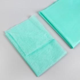Простыня одноразовая, плотность 17 г/м2, SS, 70 × 200 см, цвет зелёный