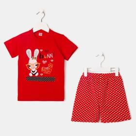 Комплект для девочки Red Bunny, цвет красный, рост 80-86 см Ош