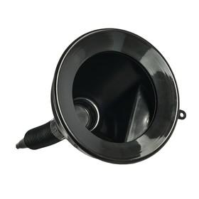 Воронка ГСМ Oktan с непроливайкой, диаметр горлышка 135 мм, черная Ош