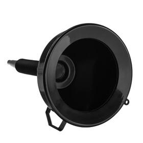 Воронка ГСМ Oktan с непроливайкой, диаметр горлышка  160 мм, черная Ош