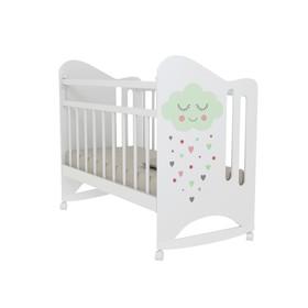 Кровать детская Nicole колесо-качалка (белый) (1200х600 )