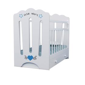 Кровать детская Little Heart маятник с ящиком  (белый) (1200х600)