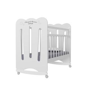 Кровать детская Desire колесо-качалка  (белый) (1200х600)