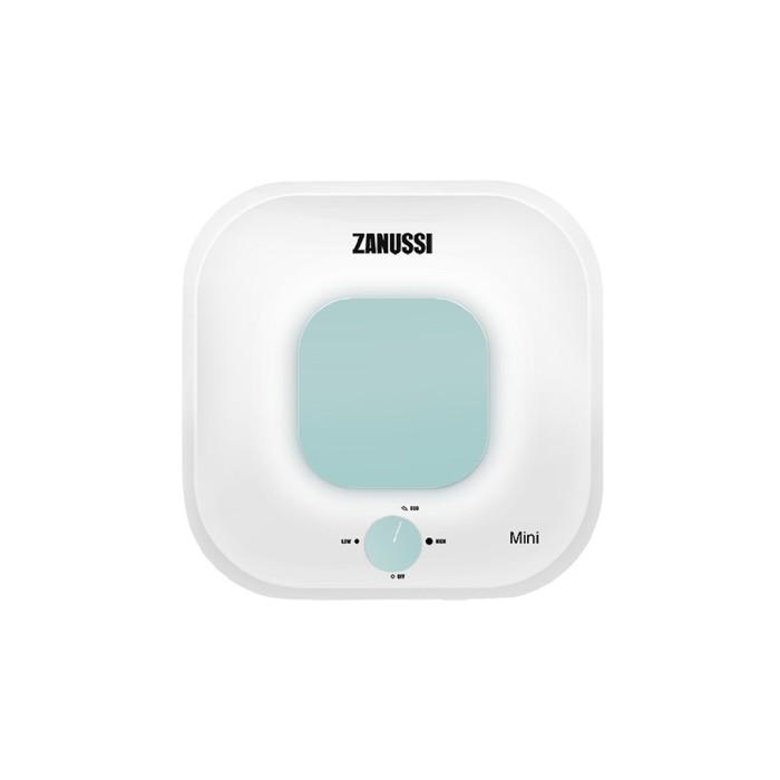 Водонагреватель Zanussi ZWH/S 10 Mini O, накопительный, 2 кВт, 10 л, бело-зелёный