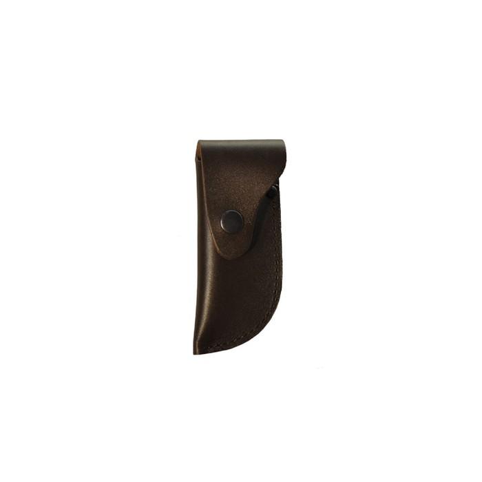Чехол для складного ножа большой, с лезвием длиной 12-13,5 см, кожаный, микс цветов