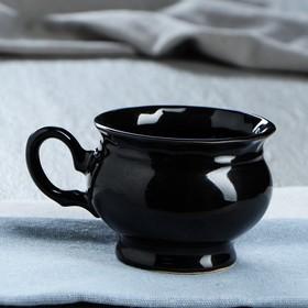 """Чашка """"Ромашка"""" 0,25 л, чёрная"""