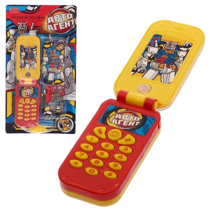 """Телефон """"Авто Агент"""" со сменными панелями, световые и звуковые эффекты, работает от батареек"""