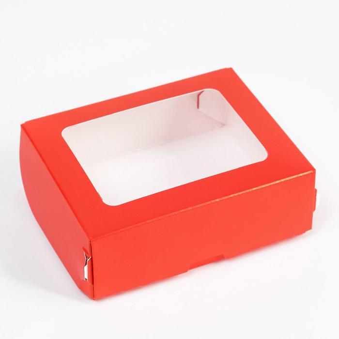 Контейнер на вынос, красный, 10 х 8 х 3,5 см