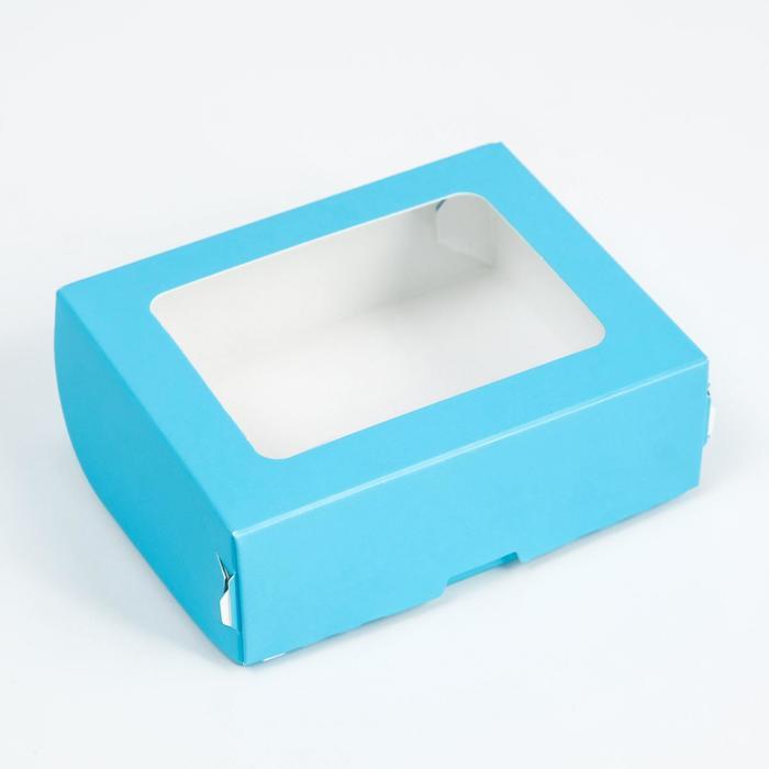 Контейнер на вынос, голубой, 10 х 8 х 3,5 см