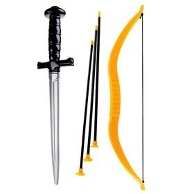 Набор оружия «Забияка», меч, лук, 3 стрелы Ош