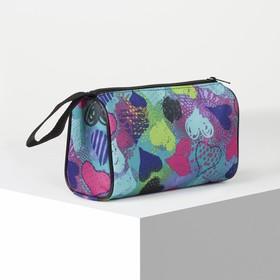 Косметичка-сумочка, отдел на молнии, цвет голубой Ош