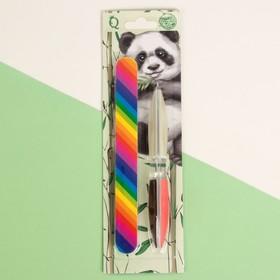 Набор маникюрный «Панда», 2 предмета