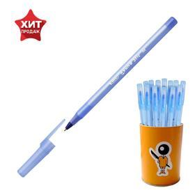 """Ручка шариковая BIC """"Round Stic"""" узел 1.0мм, в стакане, синяя 999403"""