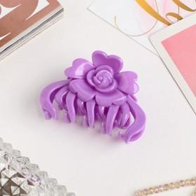 Краб для волос 'Глянец' цветок 6,5 см микс Ош