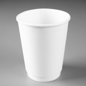 """Стакан """"Белый"""", для горячих напитков, двухслойный, 350 мл, диаметр 90 мм"""