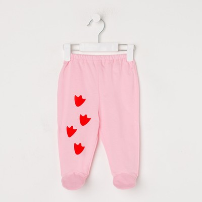 Ползунки для девочки, цвет розовый, рост 56 см (40)