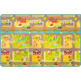 Двухсторонний коврик Prime Living «Мишка на каникулах/Дороги»,180x200x1 см