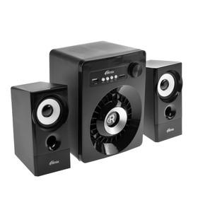 Компьютерные колонки 2.1 Ritmix SP-2165BTH, 2х3 Вт + 10 Вт, MP3, FM, BT, USB, черные Ош