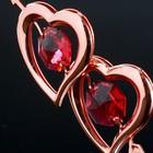 "Сувенир с кристаллами Swarovski ""Двойное сердце со стрелой"" 6,6х6,6 см - Фото 4"