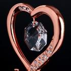 "Сувенир с кристаллами Swarovski ""Элегантное сердце Love"" 8,3х5,1 см - Фото 4"