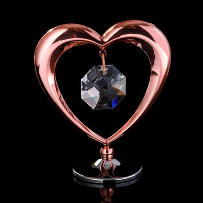 "Сувенир с кристаллами Swarovski ""Сердце"" 6,4х5,8 см - Фото 1"