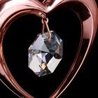 "Сувенир с кристаллами Swarovski ""Сердце"" 6,4х5,8 см - Фото 3"
